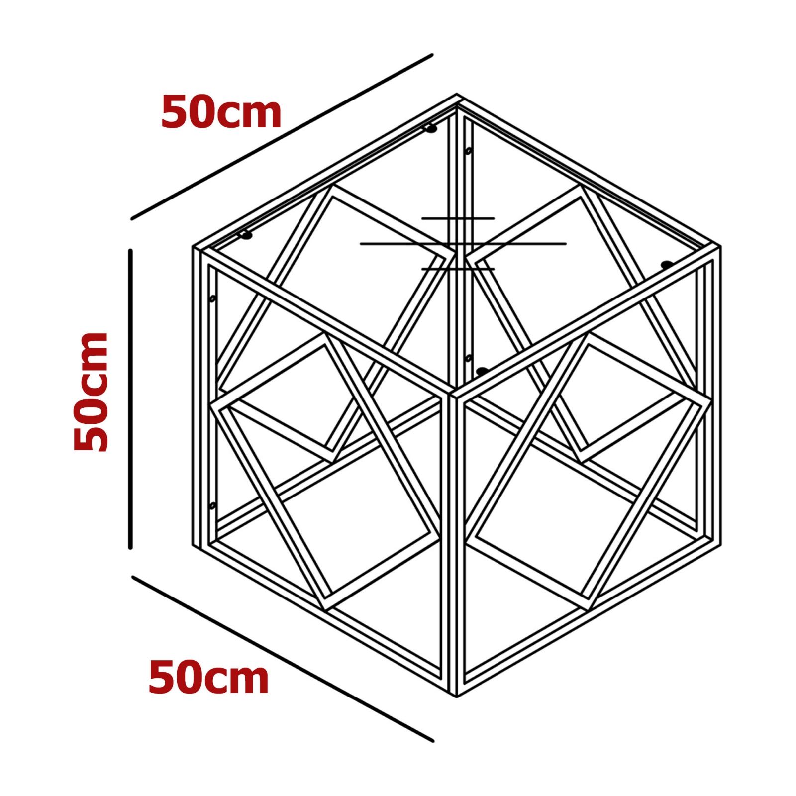 Table basse carrée en verre et métal