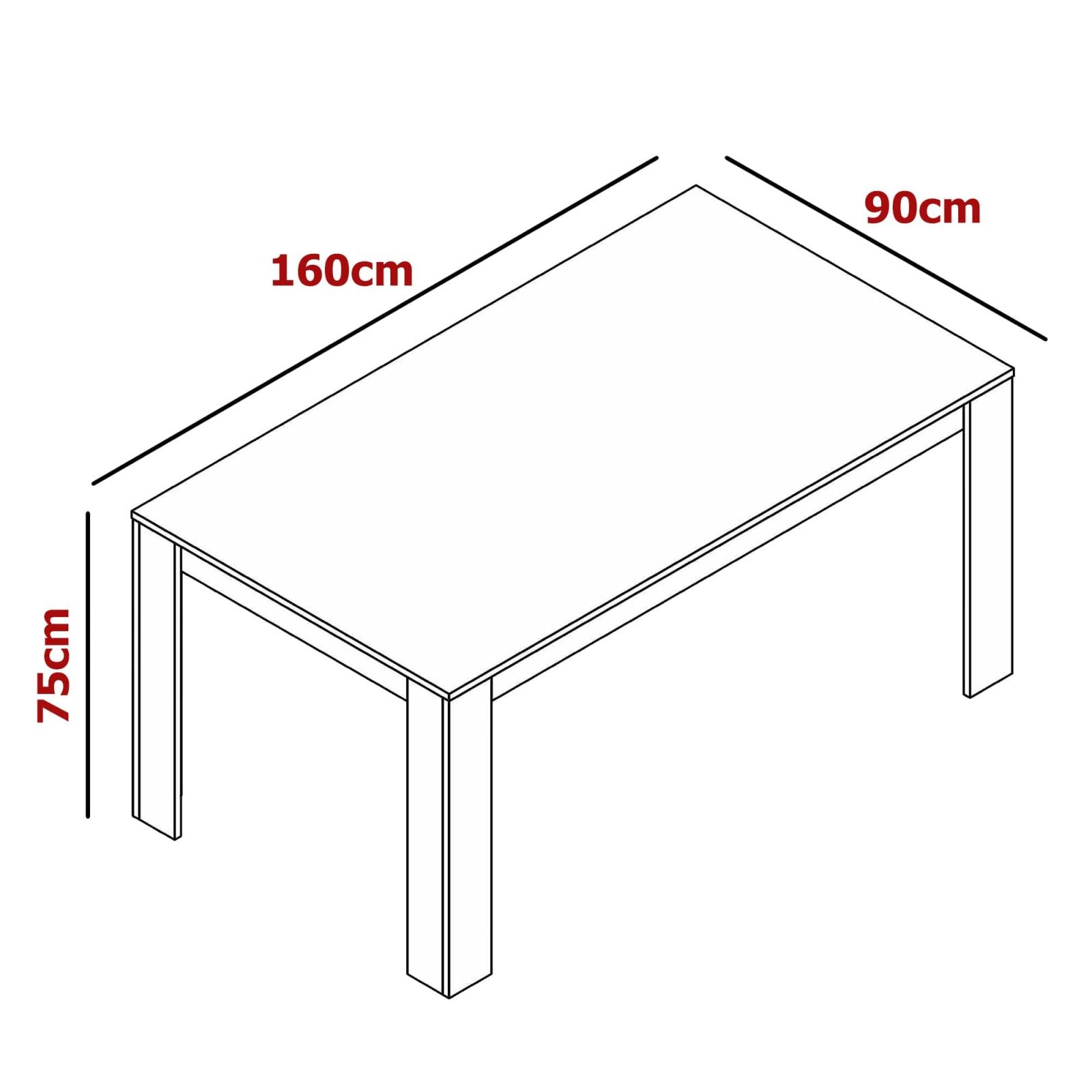 Table à manger scandinave en bois couleur chêne