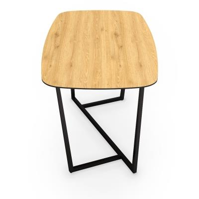 Table à manger en bois et métal noir 6 personnes
