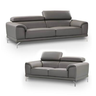 Ensemble de canapé design gris 3+2