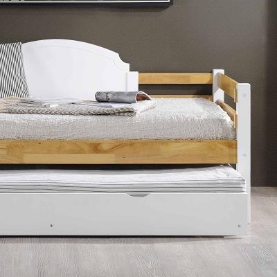 Lit gigogne banquette en bois blanc 90 x 190 cm