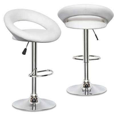 ELITE - Lot De 2 Tabourets Design Blancs