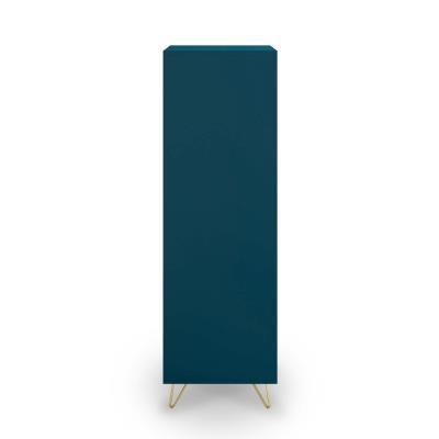 Armoire bleu canard équipée de 1 porte et 1 tiroir design