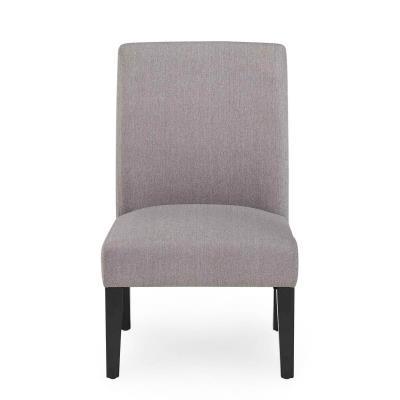 NESTOR - Fauteuil d'appoint en tissu gris