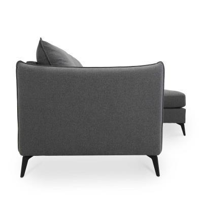 Canapé d'angle modulable en tissu gris