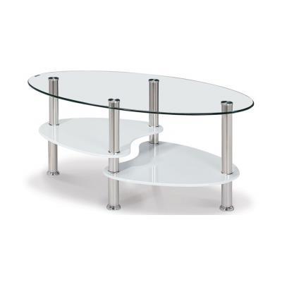CRIS - Table basse en verre transparent